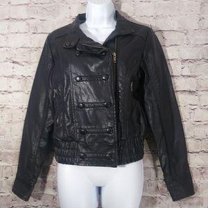 Heritage vegan leather jacket